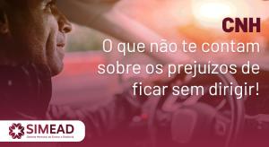 CNH – O que não te contam sobre os prejuízos de ficar sem dirigir!